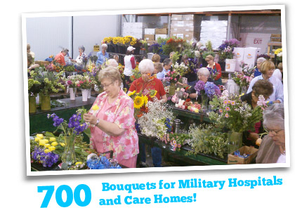 700 Bouquets Donated to Military Hospitals and Care Homes!